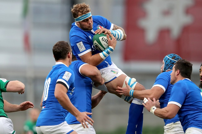 Italy rising star Niccolo Cannone in action