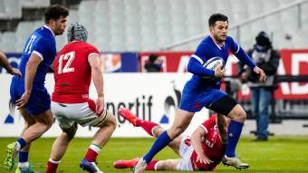 Brice Dulin in action for France against Wales