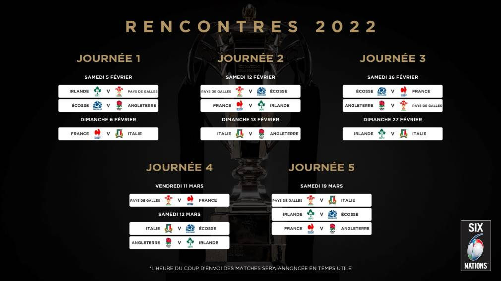 Six Nations 2022 Calendrier Six Nations Rugby | Le calendrier du Tournoi des Six Nations 2022
