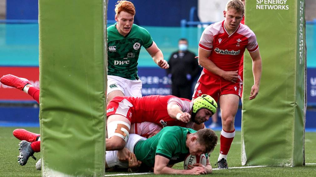 Cathal Forde try Ireland Under-20s Doak