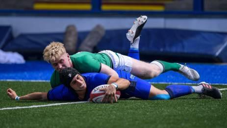Simone Gesi scores against Ireland