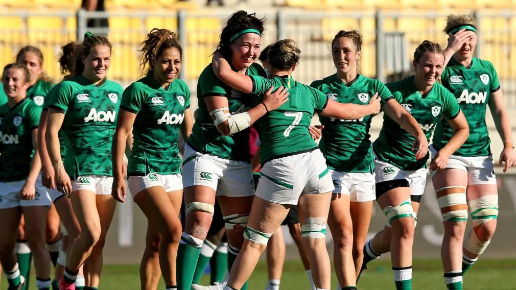 Ireland celebrates at the final whistle